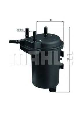 Фильтр топливный Mahle KL432KL432