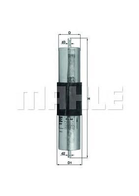 Фильтр топливный Mahle KL66KL66