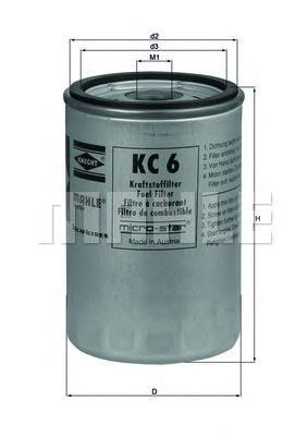 Фильтр топливный Mahle KC6KC6