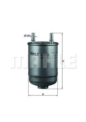 Фильтр топливный Mahle KL485/5DKL485/5D