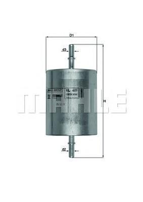 Фильтр топливный Mahle KL409KL409