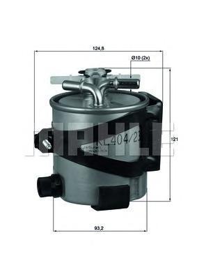 Фильтр топливный RENAULT MEGANE/SCENIC 1.5D/2.0DKLH4422