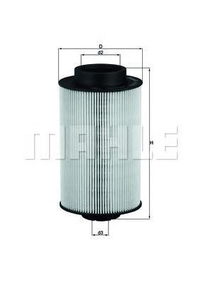 Фильтр топливный Mahle KX191/1DKX191/1D
