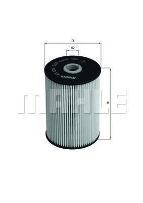 Фильтр топливный Mahle KX228DKX228D