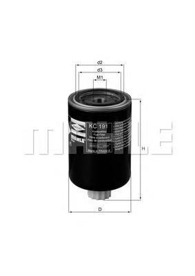 Фильтр топливный Mahle KC191KC191