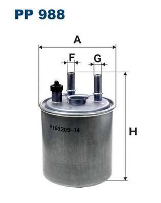 Фильтр топливный Filtron PP988PP988