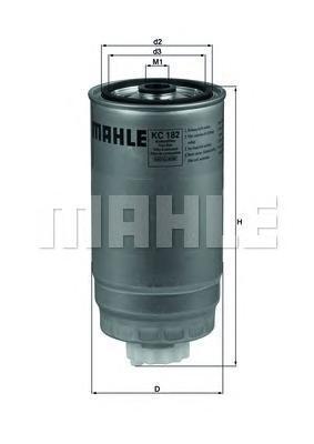 Фильтр топливный Mahle KC182KC182