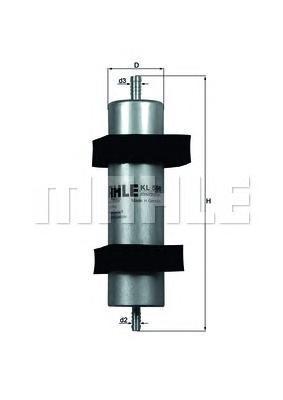 Фильтр топливный Mahle KL596KL596