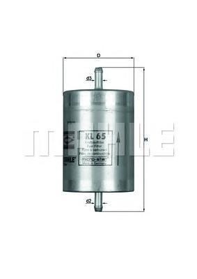 Фильтр топливный Mahle KL65KL65