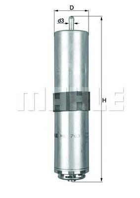 Фильтр топливный Mahle KL763DKL763D