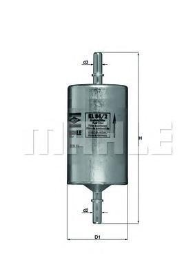 Фильтр топливный Mahle KL84/2KL84/2