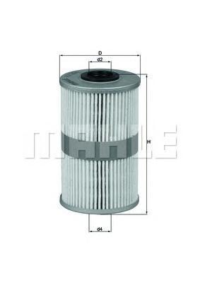 Фильтр топливный Mahle. KX204DKX204D