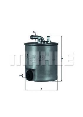 Фильтр топливный Mahle KL174KL174