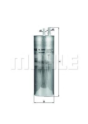Фильтр топливный Mahle KL229/2KL229/2
