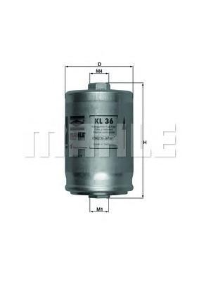 Фильтр топливный Mahle KL36KL36
