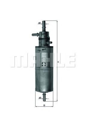 Фильтр топливный Mahle KL438KL438