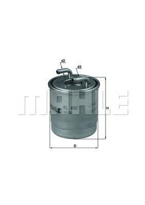 Фильтр топливный Mahle KL490DKL490D