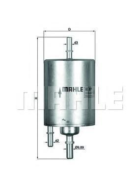 Фильтр топливный Mahle KL571KL571