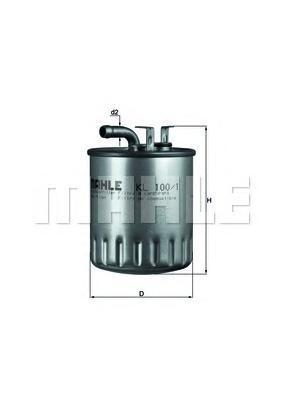 Фильтр топливный Mahle KL100/1 фильтр предварительный 100 1