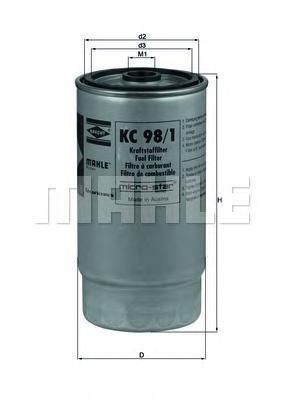Фильтр топливный Mahle KC98/1KC98/1