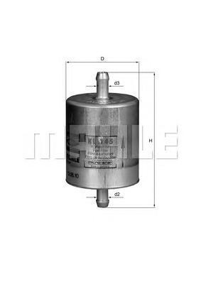 Фильтр топливный Mahle KL145KL145