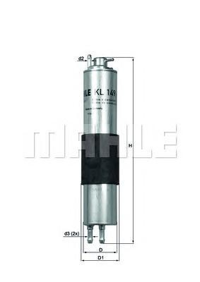 Фильтр топливный Mahle KL149KL149