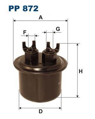 Фильтр топливный Filtron PP872PP872