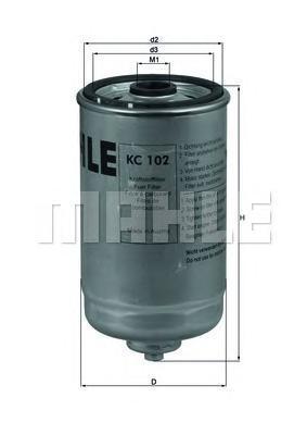 Фильтр топливный Mahle KC102KC102