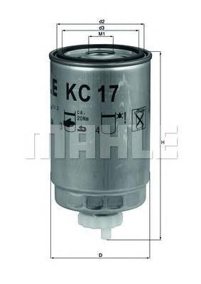 Фильтр топливный Mahle KC17DKC17D