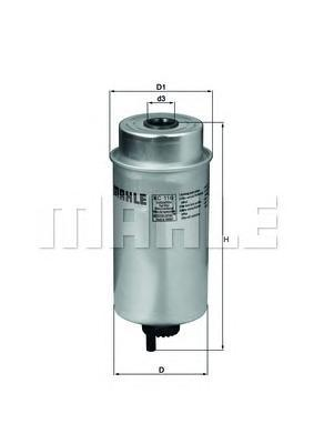 Фильтр топливный Mahle KC116KC116