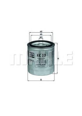 Фильтр топливный Mahle KC22KC22