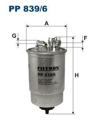 Фильтр топливный Filtron PP839/6PP839/6