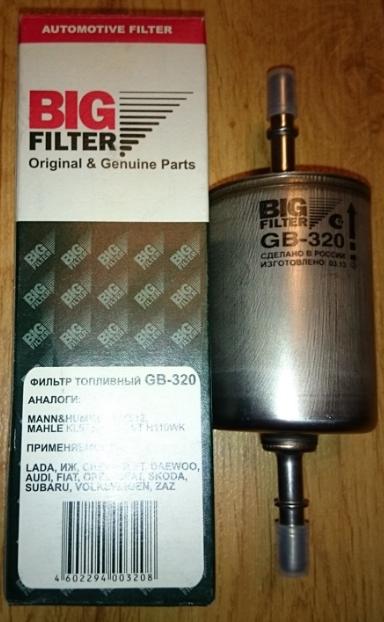 Купить Фильтр топливный BIG FILTER GB-320