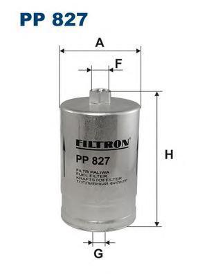 Фильтр топливный Filtron PP827PP827