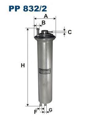 Фильтр топливный Filtron PP832/2PP832/2