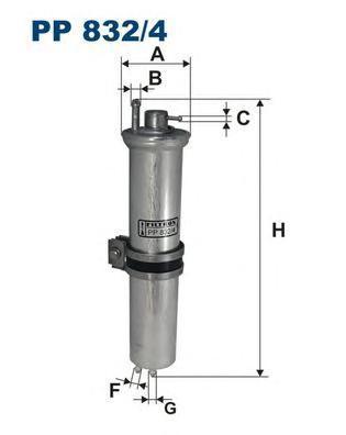 Фильтр топливный Filtron PP832/4PP832/4