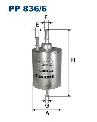 Фильтр топливный Filtron PP836/6PP836/6