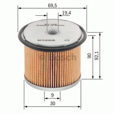 Фильтр топливный Bosch 14574296561457429656
