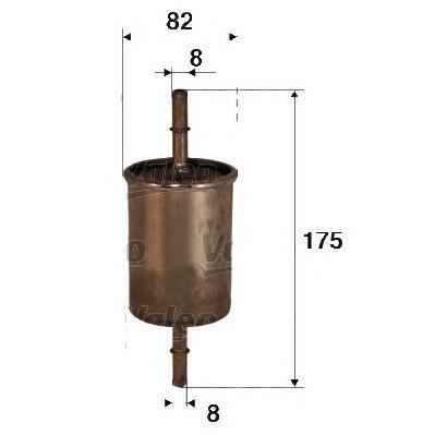 Фильтр топливный Valeo 587022587022