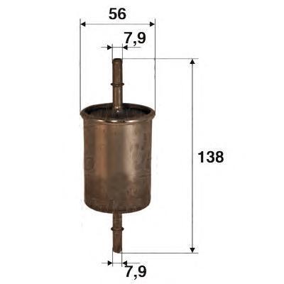 Фильтр топливный Valeo 587002587002