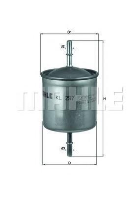 Фильтр топливный Mahle KL257KL257