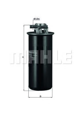 Фильтр топливный Mahle KL454KL454