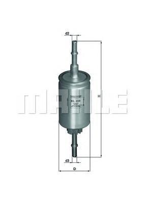 Фильтр топливный Mahle KL458KL458