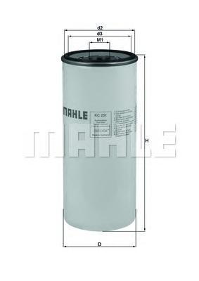Фильтр топливный Mahle KC251KC251