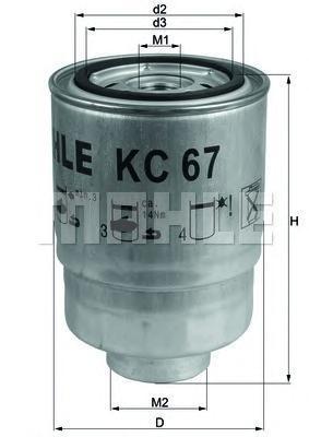 Фильтр топливный Mahle KC67KC67