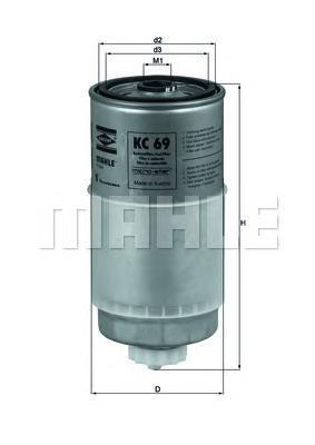 Фильтр топливный Mahle KC69KC69