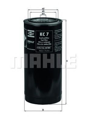 Фильтр топливный Mahle KC7KC7