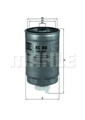 Фильтр топливный Mahle KC80KC80