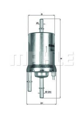 Фильтр топливный Mahle KL156/1KL156/1