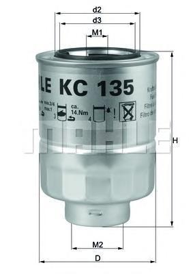Фильтр топливный Mahle KC135DKC135D